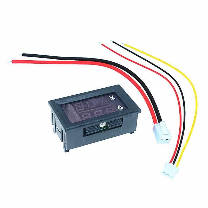 1PC nuevo Mini Digital voltímetro amperímetro DC 100V 10A Panel Amp voltios medidor de corriente de voltaje Tester Detector de doble LED pantalla de uso