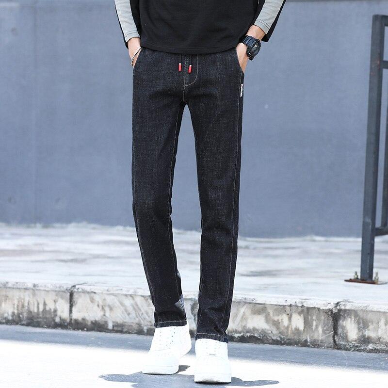 Denim Jeans Streetwear Male Pants Jeans Autumn Classic Trousers Jeans For Mens Slim Fit Designer Casual Skinny Straight MOOWNUC