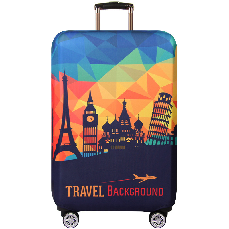 Geometric PurpleLuggage Covers For Suitcase Baggage Laggage Trolley Travel Bag Cover Thick Elastic Protective Case 999