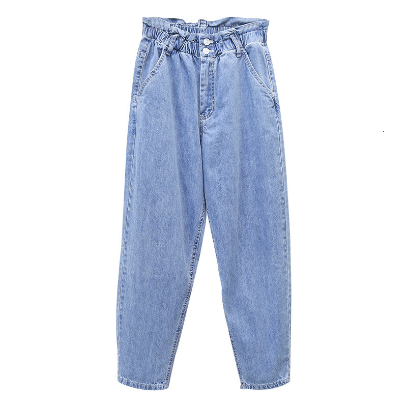 Boyfriend Jeans For Women Plus Size Casual High Waist Spring Autumn Denim Pant Vaqueros Mujer Loose Harem Trousers Woman Blue