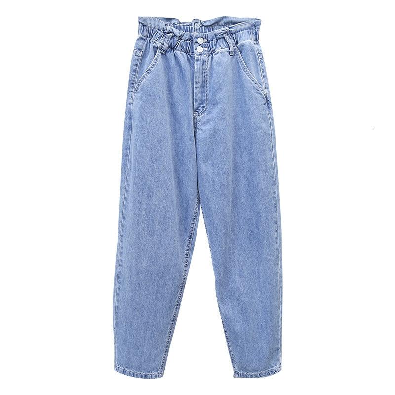 Boyfriend Jeans For Women Plus Size Casual High Waist Spring Autumn Denim Pant Vaqueros Mujer Loose Harem Trousers Woman Blue