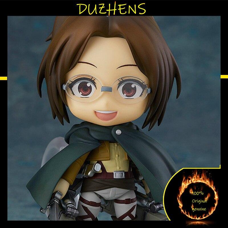 100% Original genuine Attack On Titan Q version Hange Zoe captain PVC Action Figure Anime Figure Model Toys Collection Doll Gift
