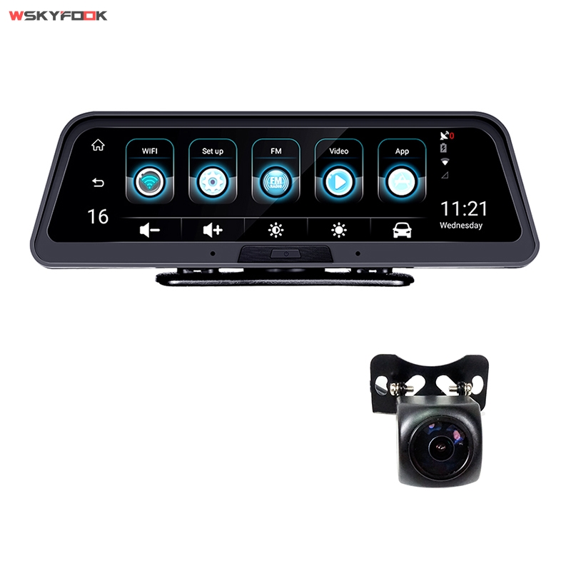 10 Inch 4G <font><b>Car</b></font> <font><b>DVR</b></font> ADAS Android Smart rearview mirror navigation Video Recorder <font><b>car</b></font> <font><b>dvr</b></font> <font><b>with</b></font> <font><b>two</b></font> <font><b>cameras</b></font> APP Remote Monitor image