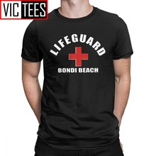 Vintage Bondi Beach Lifeguard T-Shirt Men 100 Percent Cotton T Shirt Lifeguarding Uniform Winter Clothes Oversized(China)