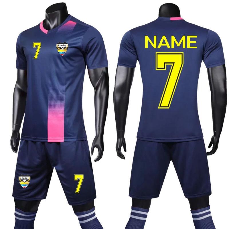 UK 2019-2020 Kids Football Kits Youth Uniforms Boys Full Kits Soccer Team Suits
