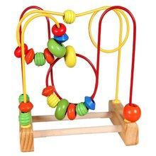 Детская Забавная детская красочная деревянная мини-игрушка в виде проволочного лабиринта, развивающая интерактивная игрушка для детей
