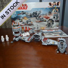 In stock 05141 Star Series Wars Defense Of Crait Space Ship Buliding Blocks 836pcs Bricks Toys Gift Education 75202 10913(China)