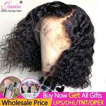 Perruque Bob Lace Front Wig Remy brésilienne à Deep Wave, cheveux Remy, cheveux naturels, pre plucked, 13x4