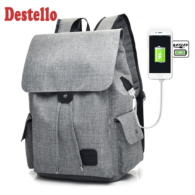 2020 Fashion Classic Polyester Fibre Men Women Laptop Backpack Anti Theft Backpack With Usb Casual Daypack For School Travel Bag