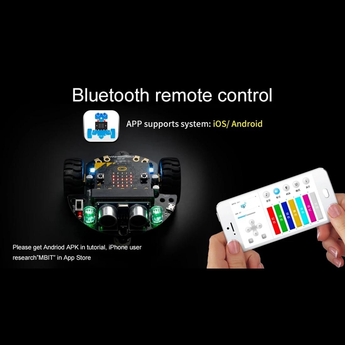 DIY избегание препятствий умный программируемый робот автомобиль обучающий комплект с или без материнской платы для микро: бит