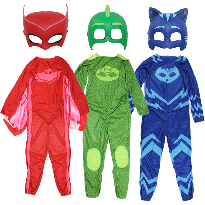 PJ Masks Costume Cosplay Clothes Suit Children Toys Christmas Halloween Pj Masks Catboy Gekko Owlette Birthday Party Kids Gifts
