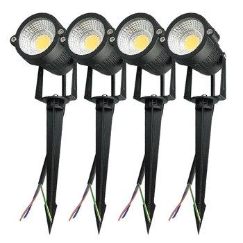 4 шт., 3 Вт, 5 Вт, COB Outdoot, водонепроницаемый светодиодный светильник для сада, 110 В, 220 В, 12 В, уличный светильник, садовый светильник, ландшафтный ...