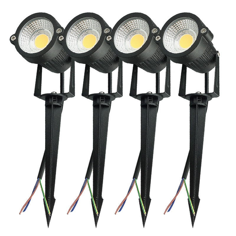4 pcs 3W 5W COB Outdoot Waterproof led Garden Lamp 110 V 220V DC12V Outdoor Lighting Garden Light Landscape LED spotlight