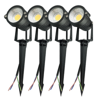 4 pcs 3W 5W COB Outdoot Waterproof led Garden Lamp 110 V 220V DC12V Outdoor Lighting Garden Light Landscape LED spotlight|LED Lawn Lamps| |  -