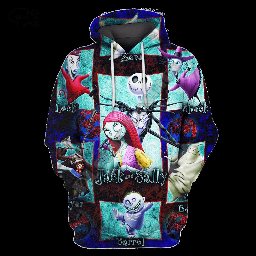 Men Women Merry Christmas gift Halloween Print 3D Hoodies Funny Skull Jack Corpse Bride Sweatshirt streetwear pullover outfit