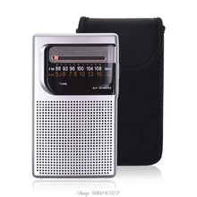 Storage-Bag Radio Sony Protective-Pouch Neoprene-Case Portable Soft for Icf-s10mk2/Pocket/Am-/..