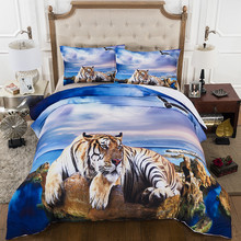 Beach Tiger 3D Print Bedding Sets Duvet Cover Pillow Shams for Teens Boys 3 Pieces Queen King Size Bedclothes Bed Linen