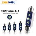 ANMINGPU 2x сигнальная лампа C10W C5W Led Canbus 31 мм 36 мм/39 мм/41 мм Festoon Светодиодные Автомобильные внутренние светильник номерного знака светильник белы...