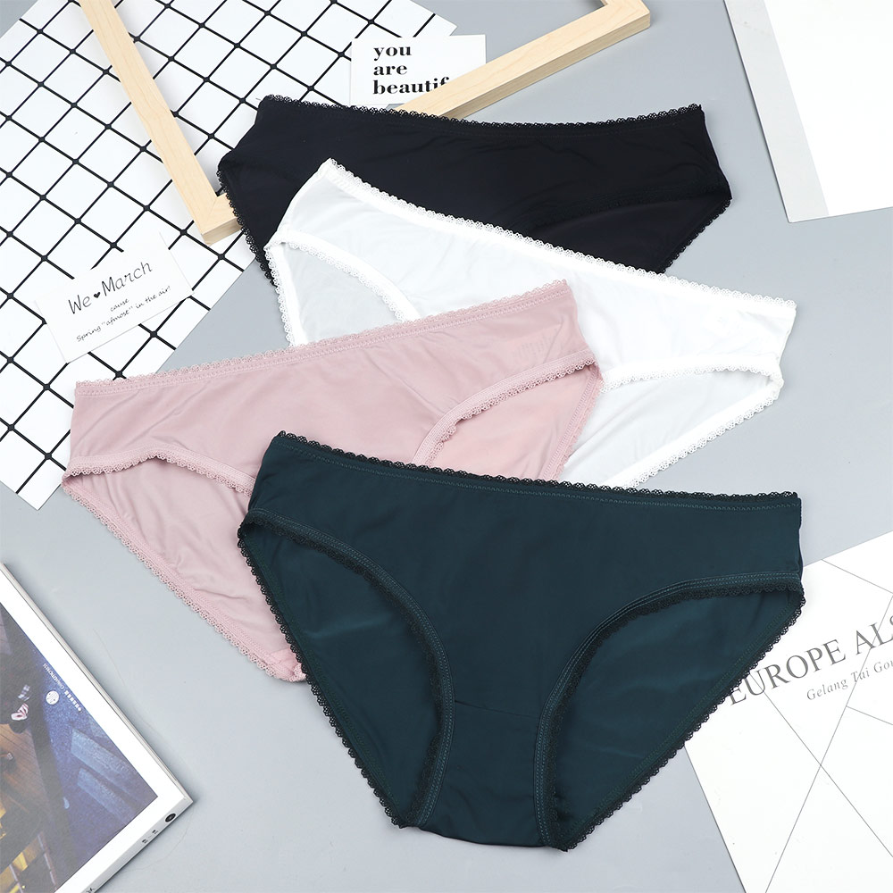 Fashion Sexy Women Panties Ice Silk Thong Seamless Panties Low Waist G-string Ultra Thin Lady Stretching Panties