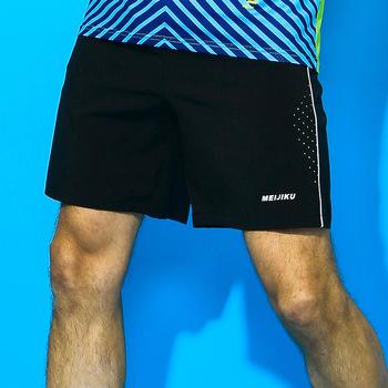 Mężczyźni odzież do tenisa stołowego modele do pary Plus rozmiar Badminton krótkie lato szybkie suszenie ubrań sportowe oddychające spodenki tanie i dobre opinie Poliester Stałe 1903A Pasuje prawda na wymiar weź swój normalny rozmiar Suknem