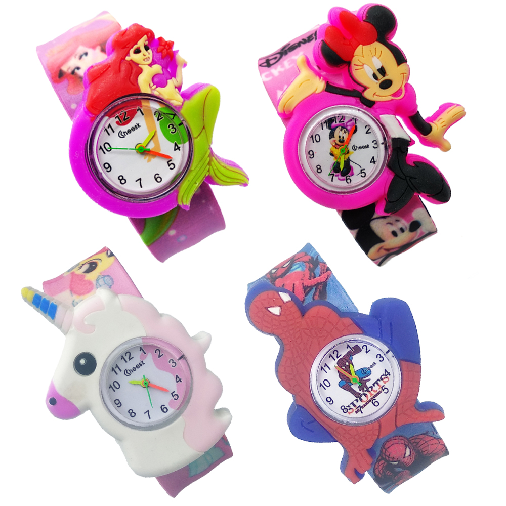 Children's Watch Cartoon Mermaid Kids Quartz Wrist Watches Beat Circle Bracelet Child Watch Girls Boys Gift Clock Relogio Montre