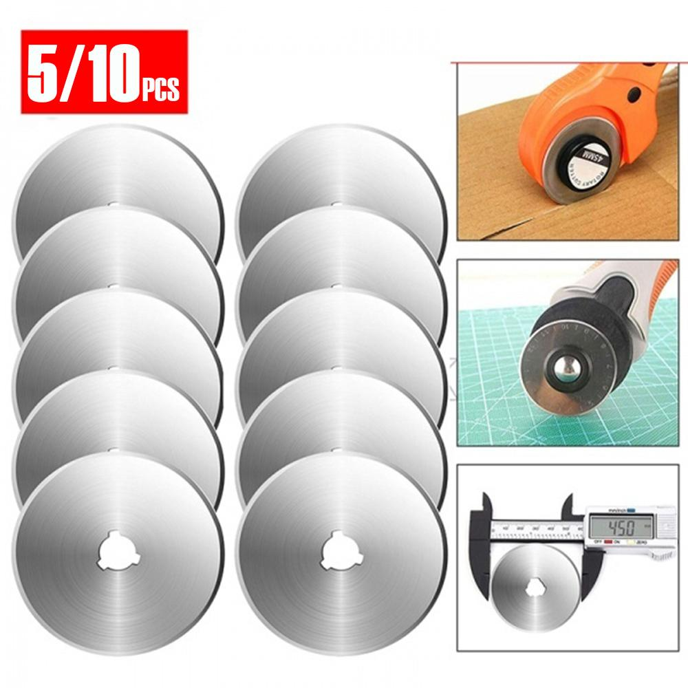5/10 Pcs Rotary Cutter Blade Cutting Wheel Blade Hand Tool Set Patchwork Leather Knives Fabric Paper 45 Mm