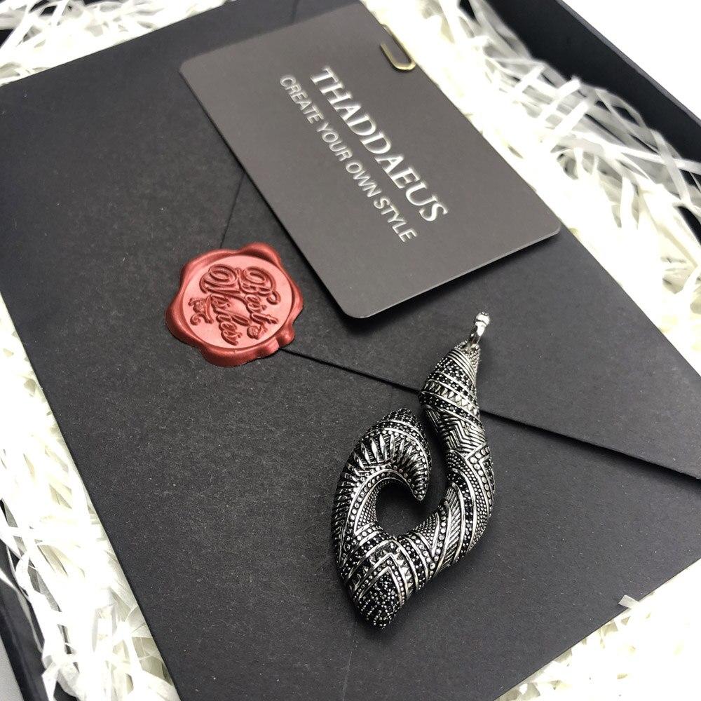 Pendant Hook Ethnic Maori,2019 Fashion Ethnic Jewelry Thomas Solid 925 Sterling Silver Bijoux Gift For Ts Woman & Rebel Men 5