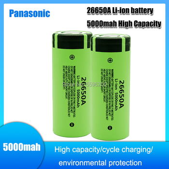 Panasonic Original High Capacity 26650A 26650 5000mAh lithium battery for Flashlight power Bank Li-ion Rechargeable Batteries image