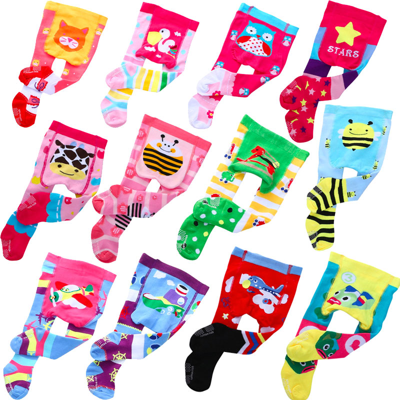 Newborn Tights For Boys Baby Stockings Fox Pantyhose Girls Toddler Rubber Soled Huntgold Tights Newborn Baby Stuff  Leggins 0-1Y