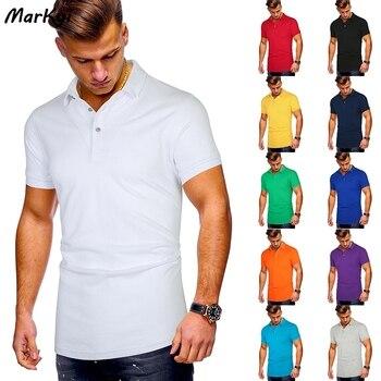 цена MarKyi 2020 summer fashion work solid polo t shirt men plus size cotton short sleeve brand polo shirts for men онлайн в 2017 году