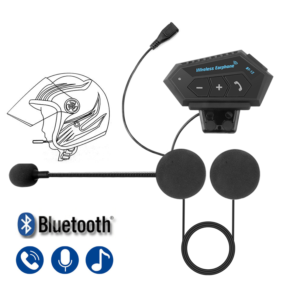 M1 Bluetooth Anti-interference Headset For Motorcycle Helmet Riding Hands Free Headphone Moto Helmet Headset Automatic answering