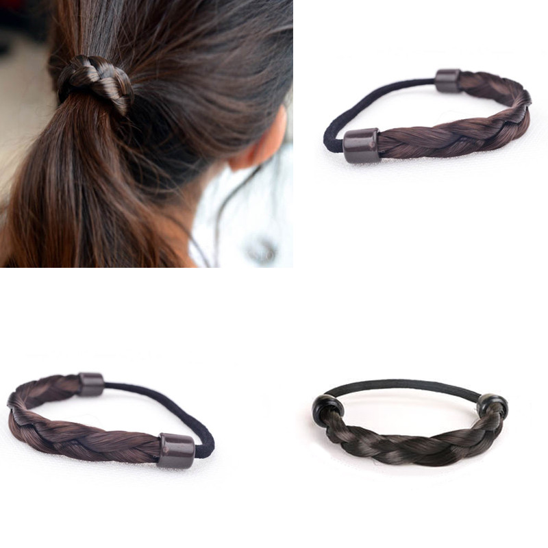 Twisted Synthesis Wig Braid Hairband Elastic Rubber Band Invisible Headband Hair Bands Ponytail Holder Fashion Hair Accessories