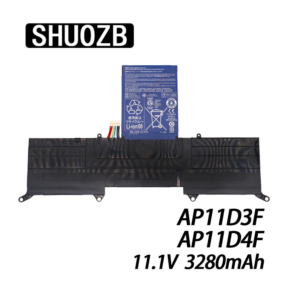 New <font><b>AP11D3F</b></font> AP11D4F Battery For Acer Aspire S3 S3-951 S3-391 MS2346 3ICP5/65/88 3ICP5/67/90 11.1V 3280mAh 36.4Wh SHUOZB image