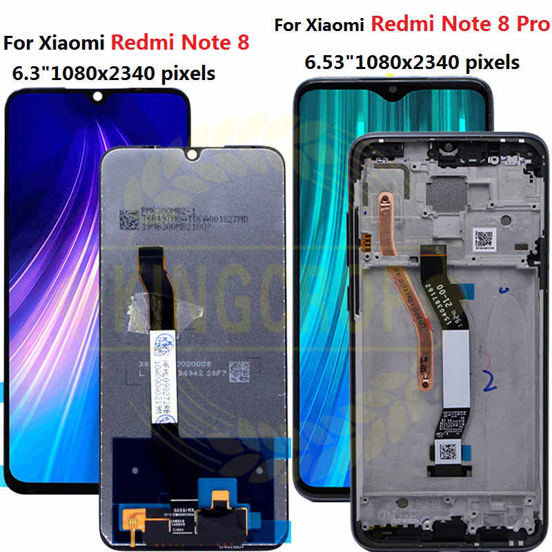 Tela de reposição para xiaomi redmi note 8 pro, display lcd, touch screen, para redmi note 8 pro digitalizador,