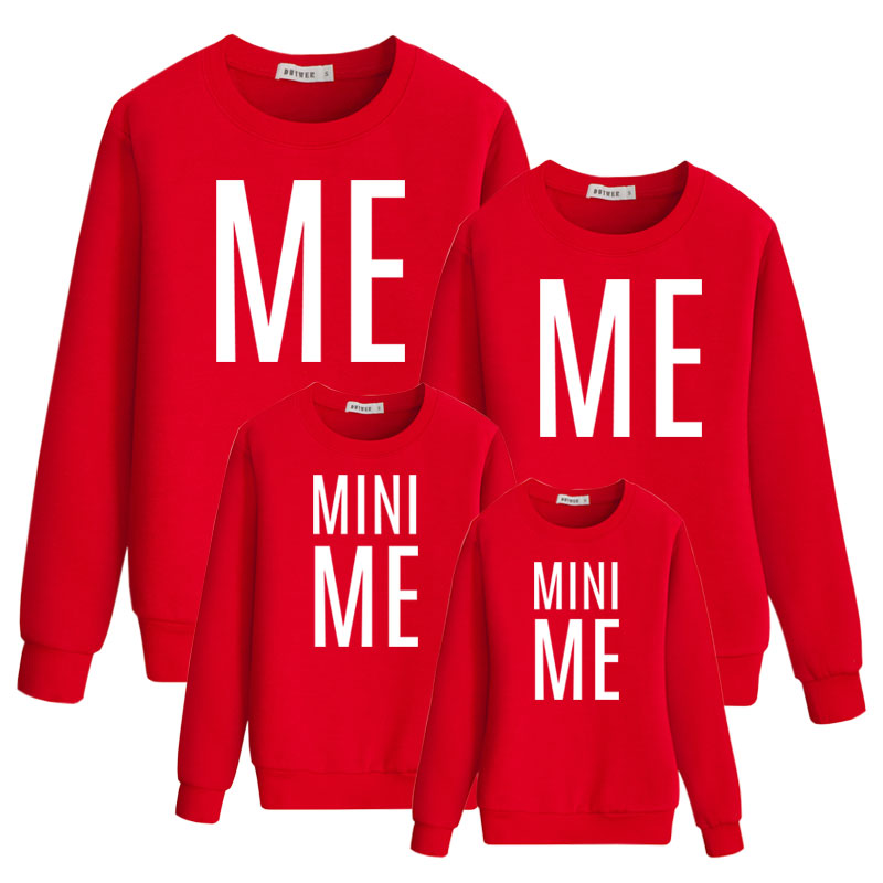 Mini Me Family Look Matching Outfits Father Mother Kids Cotton Sweatshirt Funny Dad Mom Dad Daughter Mommy And Me Letter Fashion
