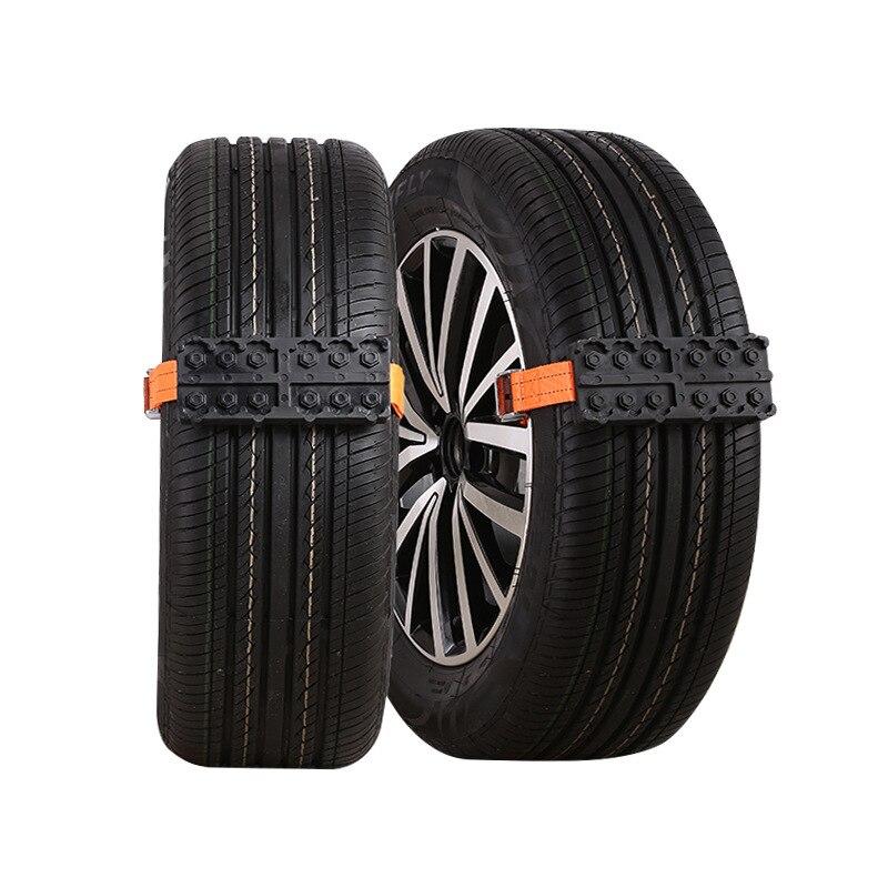 2 adet lastik zinciri kayış kar zincir acil Anti-Skid otomobil kemer açık araba SUV evrensel Anti patinaj kar zincirleri naylon