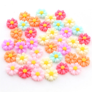40pcs/Lot 10/12mm Clown Chrysanthemum Phone Hair Chindren Jewelry Accessories Pendant Necklace Diy Handmade Findings Components(China)