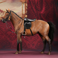 1/6 32cm Germany Hannover Warm Blooded Model Simulation Horse Decoration Model Accessories Maroon