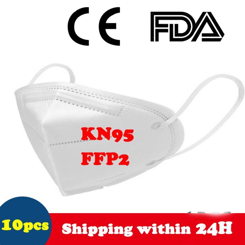 10/1 Pcs FFP2 KN95 Mask Dustproof Anti-fog Masks N95 Breathable Face Masks 95% Filtration Mouth Masks 4-Layer Mouth Muffle Cover