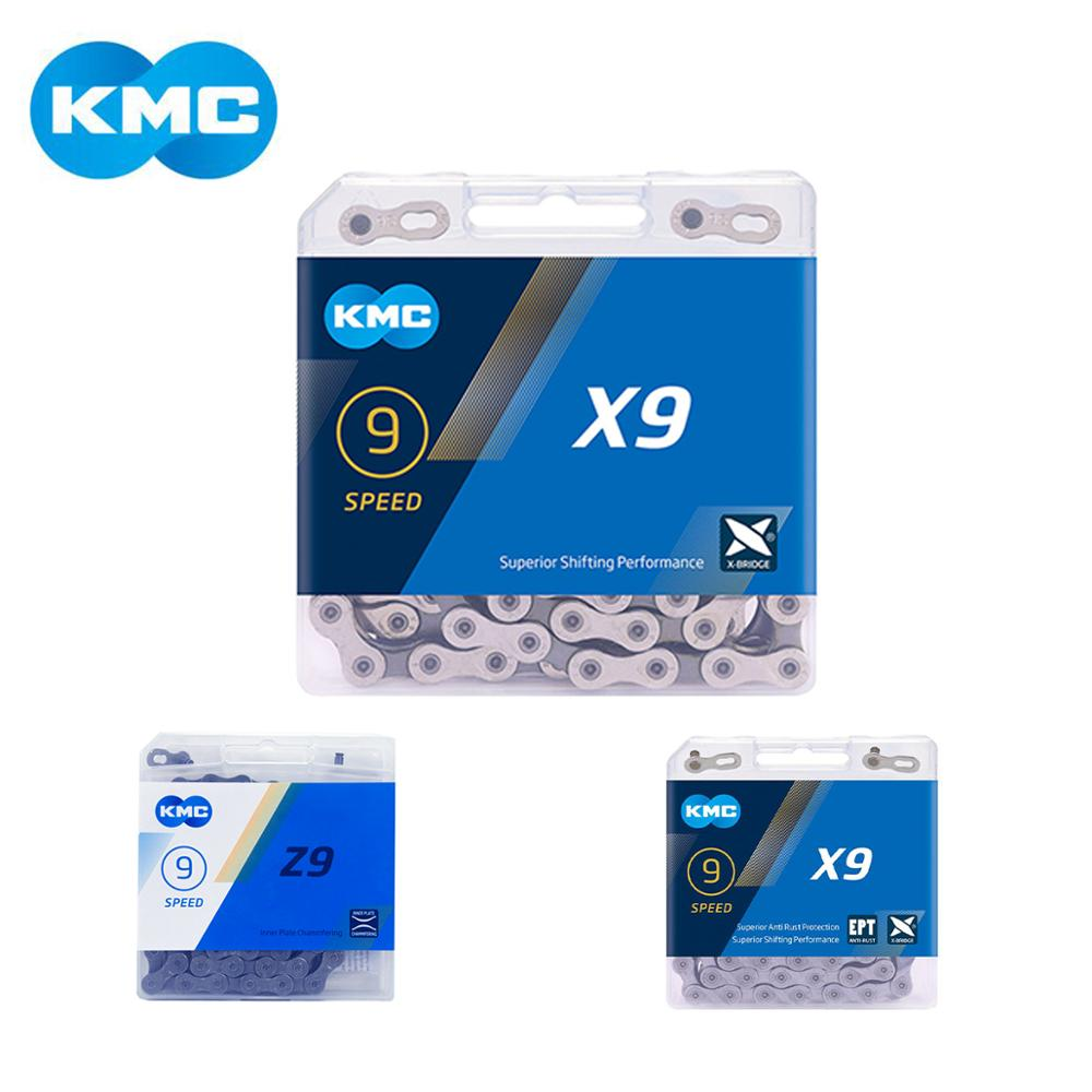KMC X9EPT 9--27 SPEED GREY MTB--ROAD BICYCLE CHAIN