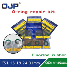 Fluor Rubber O-Ring Afdichting Rubber Ring Reparatie Kit CS1/1.5/1.9/2.4/3.1Mm slijtvastheid Olie Weerstand Fkm Pakking O Ring(China)