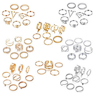 IF ME 30pcs/set Vintage Punk Gold Ring Set for Women Men Fashion Retro Antique Finger Ring Fashion Party Jewelry Lot 2019 NEW