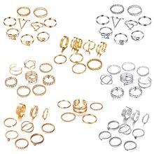 IF ME 30pcs/set Vintage Punk Gold Ring Set for Women Men Fas