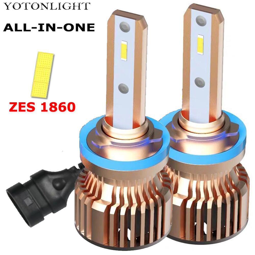 Mini H11 H8 H9 LED H1 H4 H7 9006 9005 Headlight Bulb Kit 20000LM 6000K Fog Light