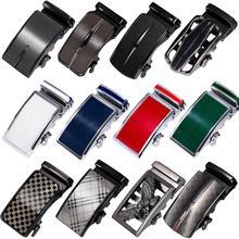 Alloy Mens Relacement Belt Buckles Button Sliding Without Belt Gold Blue Black Silver Buckle for 3.3cm to 3.5cm Ratchet Strap
