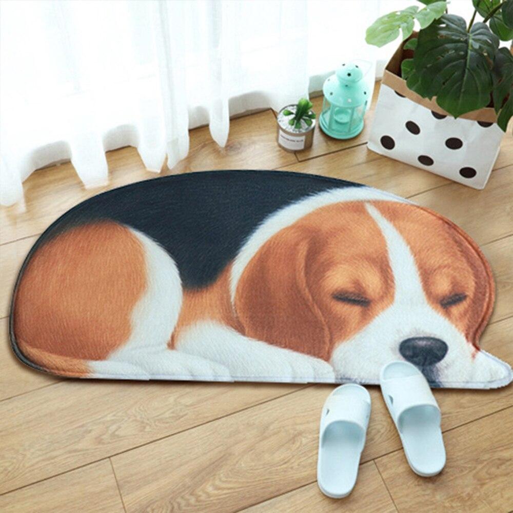3D Floor Mat Kitchen Bath Mat Carpets Pet Dog Floor Rug Irregular Doormat For Entrance Mats Animal Printed Carpets Anti-slip