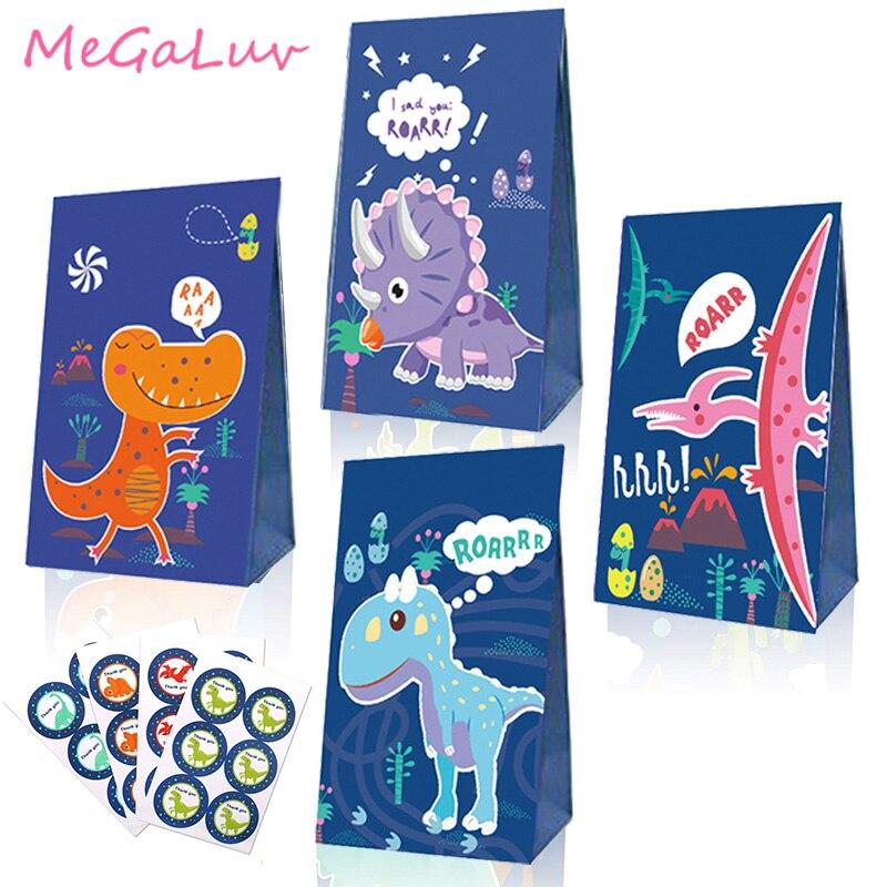 6Pack Dinosaurier Goodie Candy Behandeln Taschen Box Dino Thema Kinder Geburtstag Roar Party Favor Baby Shower Party Supplies