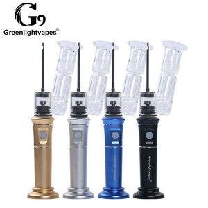 G9 HEnail Plus Dab Rig с Ti/керамической/кварцевая тарелка набор для эмалей стеклянный фильтр для воды барботер воск концентрирует масло е гвоздь дымо...