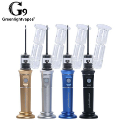 G9 HEnail Plus Dab Rig con Ti/cerámica/cuarzo plato Enail Kit de vidrio filtro de agua Bubbler cera concentrada aceite E tubo de humo de uñas