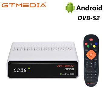 (PLAZA)Versión GTMEDIA GTS Dispositivo de TV inteligente Android 6,0 + DVB-S/S2 Receptor 2 en 1 2G 8G WIFI IP TV Netflix Set top Box